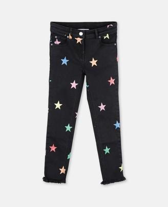 Stella Mccartney Kids Stella McCartney glitter stars denim trousers