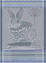 Garnier Thiebaut Garnier Thiebaut, Lapin Bleu Design, (Rabbit, Blue) French Jacquard Kitchen / Tea Towel, 100 Percent Cotton