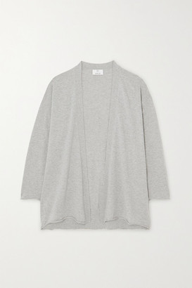 Allude Cotton And Cashmere-blend Cardigan - Gray