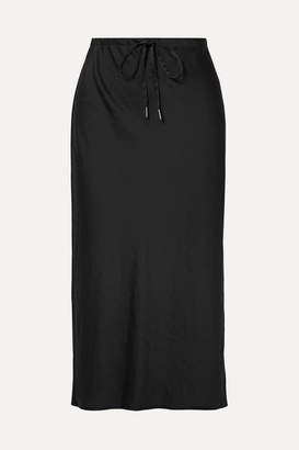 Alexander Wang Crinkled-satin Midi Skirt - Black