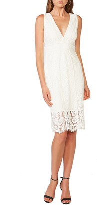 Bardot Morgan Front Slit Lace Cocktail Dress