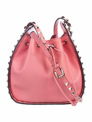 Valentino Small Rockstud Bucket Bag Pink