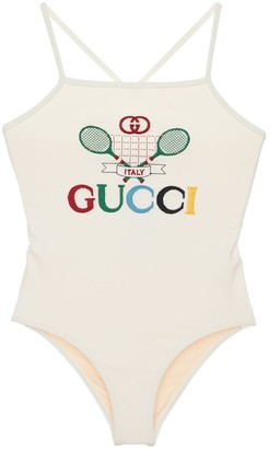 Gucci Embroidered Lycra One Piece Swimsuit
