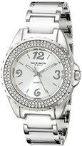 Akribos XXIV Women's AK514WT Silver-Tone Watch with Two-Tone Link Bracelet