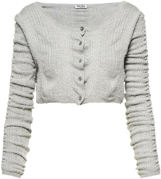 Miu Miu Knitted Cropped Cardigan