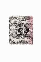 Zadig & Voltaire Delta Tie Flower Python Scarf