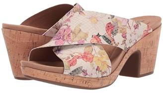 Cobb Hill Alleah Slide (White Floral) Women's Slide Shoes