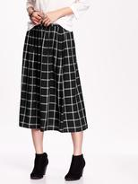 Old Navy Plaid Midi Skirt for Women