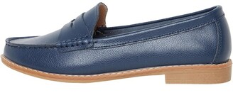 Onfire Womens Leather Penny Loafers Navy