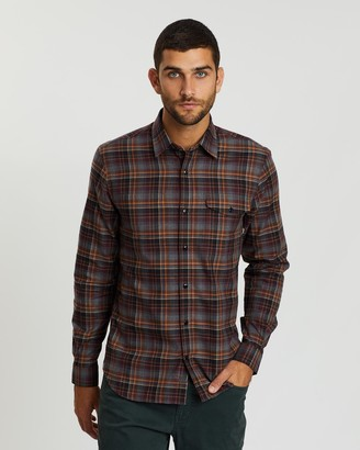 Gieves And Hawkes Checked Cotton Flannel Shirt