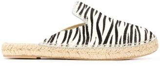 Manebi Zebra-Pattern Espadrilles