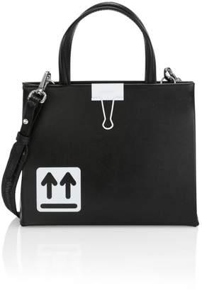 Off-White Mini Binder Clip Leather Box Bag