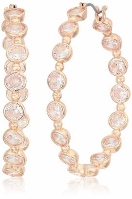 Anne Klein Women's Crystal 40 Mm Hoop Earrings