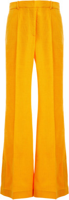 Joseph Tena Cotton-Blend Flared-Leg Trousers