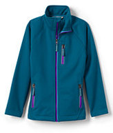 Lands' End Girls Softshell Jacket-Silver Frost Leopard