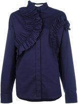 Cédric Charlier ruffled panel blouse - women - Cotton/other fibers - 38