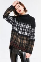 Silence & Noise Silence + Noise Gunner Plaid Sweater