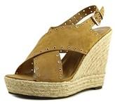 Report Caden Women Open Toe Synthetic Tan Wedge Heel.