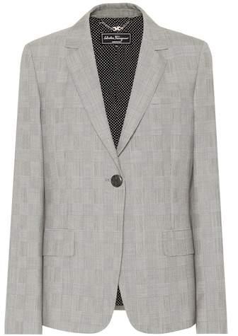 Salvatore Ferragamo Checked wool blazer
