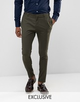 Noak Super Skinny Suit Trouser In Khaki