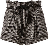 L'Agence Houndstooth Paperbag Shorts