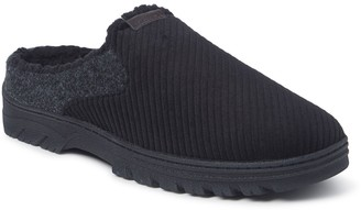 Dearfoams Men's Corduroy and Felted Microwool Clog