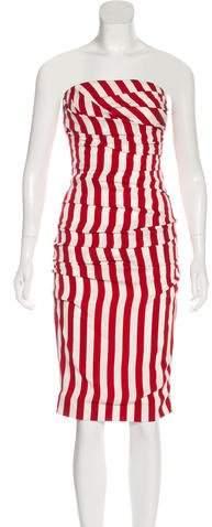 Dolce & Gabbana Striped Strapless Dress