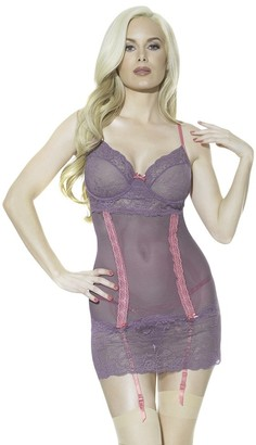 Coquette Women's Scalloped Stretch Lace Chemise