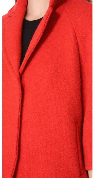 Giambattista Valli Red Boucle Jacket