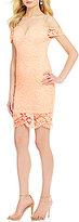 As U Wish Off-The-Shoulder Lace Sheath Dress