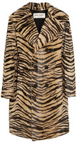 Saint Laurent Tiger-print Goat Hair Coat - Leopard print