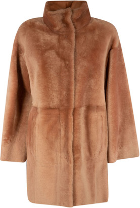 Drome Stand-up Collar Fur Reversible Coat