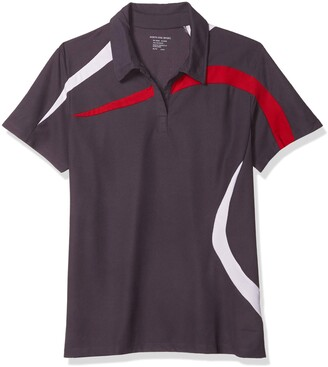 Ashe City Women's Impact Performance Polyester Pique Colorblock Short Sleeve Polo Shirt