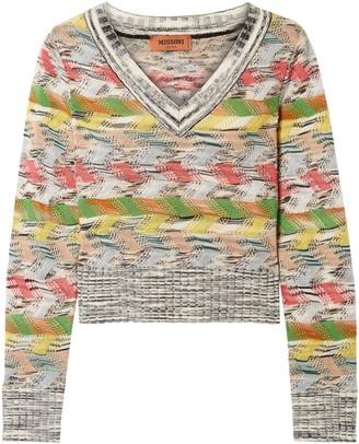 Missoni Crochet-knit Wool-blend Sweater