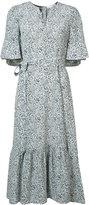 Co belted floral print dress
