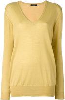 Roberto Collina cashmere v-neck sweater - women - Cashmere - L