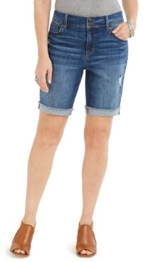 Style&Co. Style & Co Distressed Bermuda Shorts, Created for Macy's