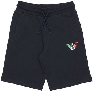Emporio Armani Italy Logo Cotton Sweat Shorts