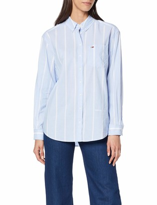 Tommy Jeans Women's Tjw Stripe Detail Shirt Blouse