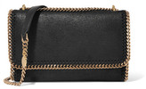 Stella McCartney Falabella Faux Brushed-leather Shoulder Bag - Black