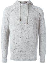 Brunello Cucinelli melange knit hoodie