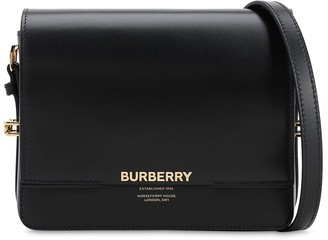 Burberry Sm Grace Shiny Leather Shoulder Bag