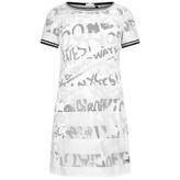 DKNY DKNYGirls White & Black Mesh Layer Dress