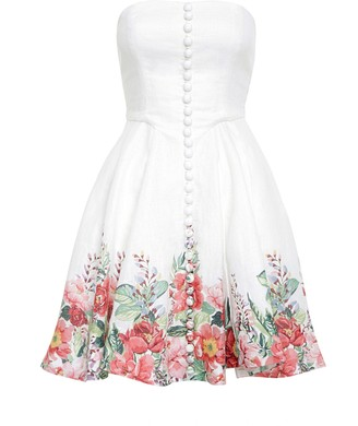 Zimmermann Bellitude Bustier Short Dress