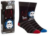 Pack Of Two Black 'star Wars' Socks In A Gift Box
