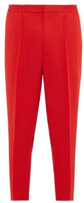 Alexander McQueen Logo-tape Zip-cuff Crepe Trousers - Red