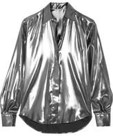 Pallas Arianne Silk Lamé Shirt - Silver