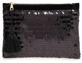 Shiraleah Eva Sequin Zip Pouch - Black