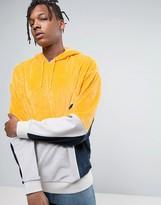 Asos Oversized Cut & Sew Hoodie In Velour
