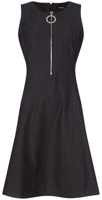 DKNY Occasion Occasion Fit and Flare Zipper Dress